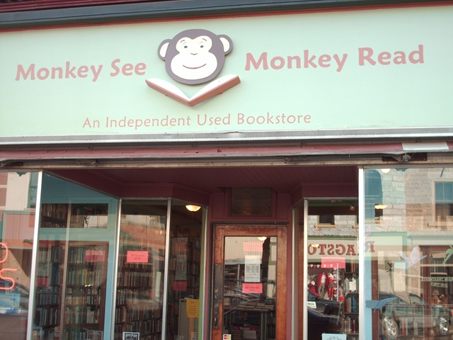 Monkey See Bookstore front