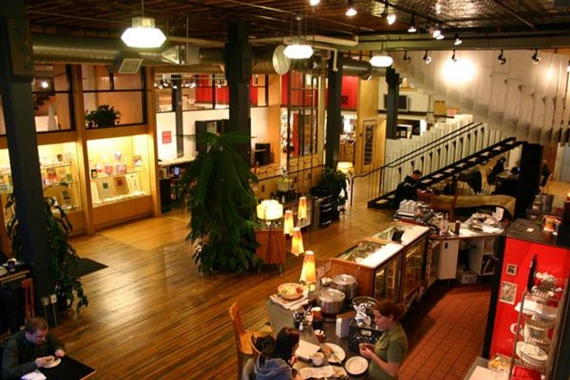 Loft lobby and coffee shop