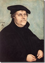 Cranach Portrait of Martin Luther 1543