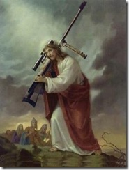 Jesus with a gun (borrowed from Seven Whole Days)