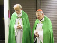 Bishop Hanson and Cardinal Kasper in 2004