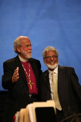 Bishop Hanson with Dr. Sayeed